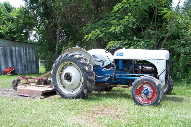 1946 8n Ford Tractor : Ford n tractor mows the pasture craig b flickr