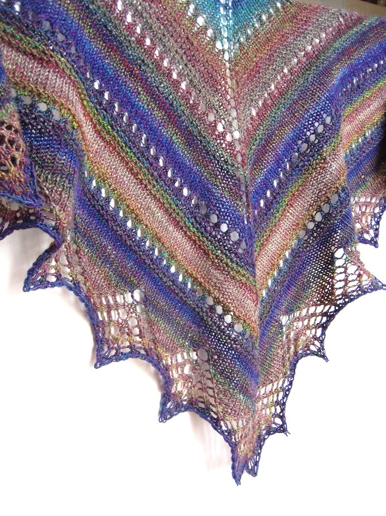 Knitting With Handspun Yarns Patterns : Handspun prism shawl yds of ply yarn from