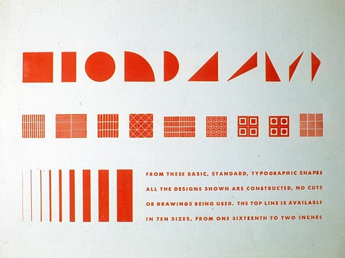 Sheet with typographic shapes, by Alvin Lustig, 1939 | by leiris202