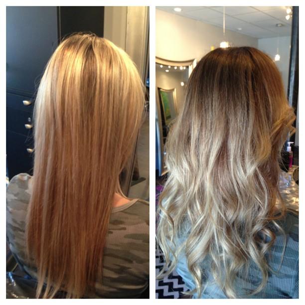 Before and after. Natural balayage #pravana #blonde #balay