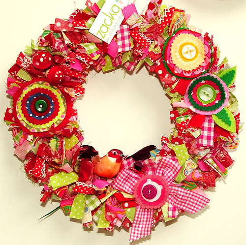 Christmas fabric wreath 2009 | by Holland Fabric House