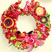 Christmas fabric wreath 2009
