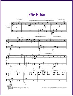 Fur Elise Sheet Music With Letters Pdf
