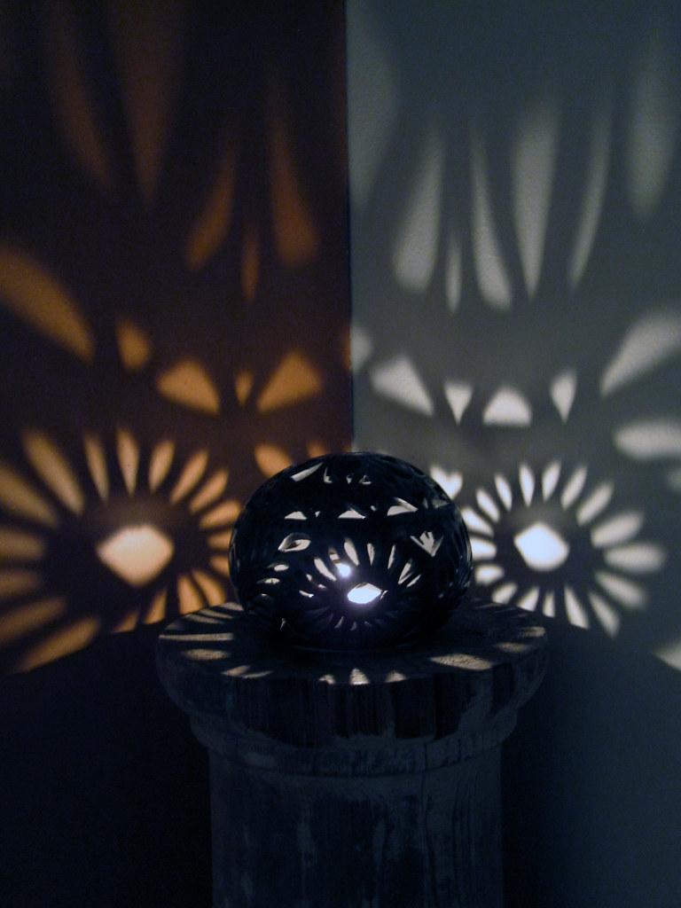 lights patterns my pretty new black pottery candle globe f? Flickr