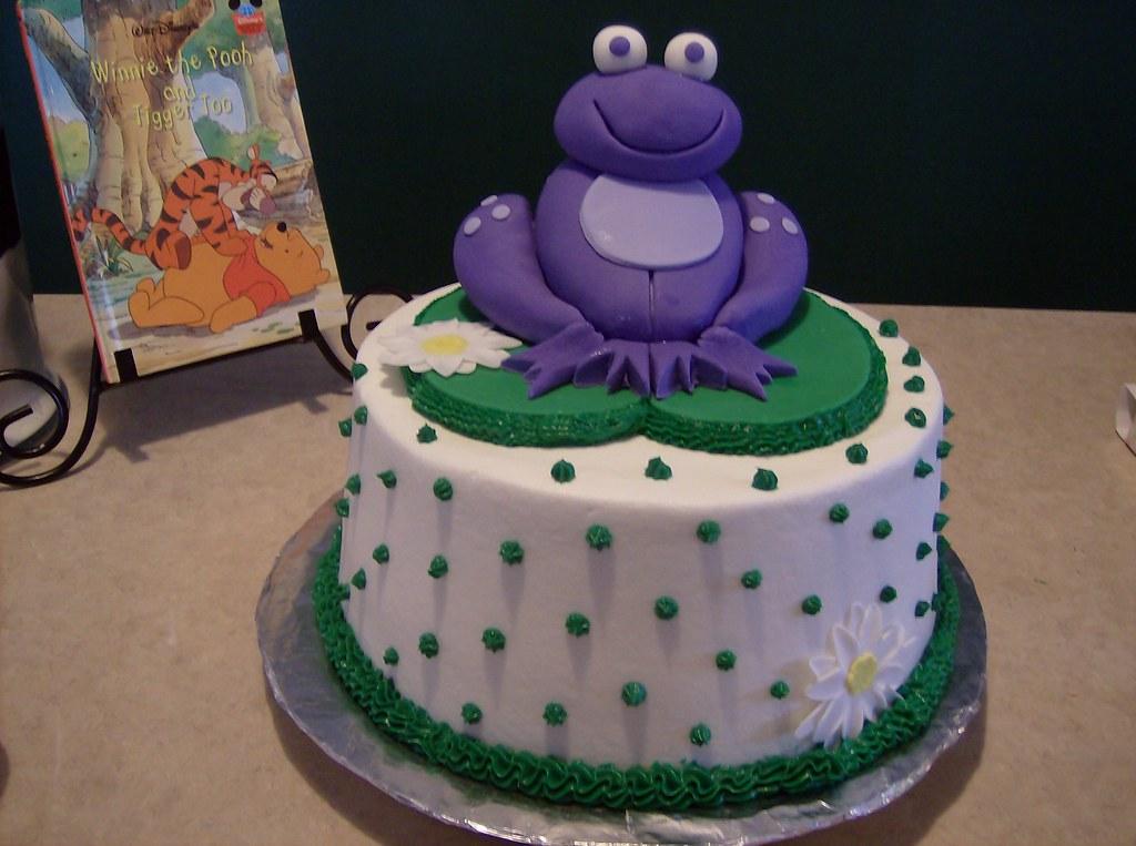Purple Frog Birthday Cake True Homemade 2 Layered Yellow Flickr