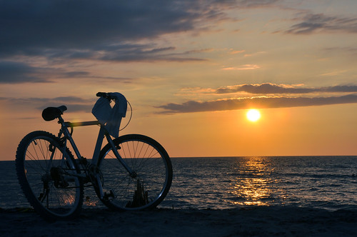 Bike and Beach and a Summer Sunset | by BlauEarth