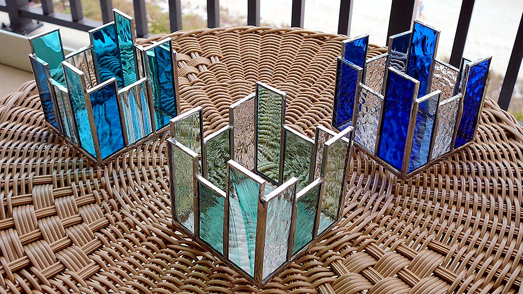 Stained Glass Candle Holders These candle holders were com… Flickr
