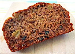 Zucchini Banana Bread with Walnuts and Raisins | by CinnamonKitchn