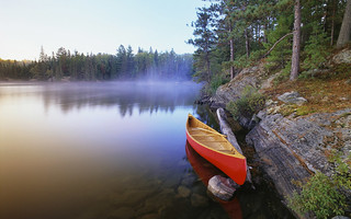 Canoe on Pinetree Lake, Algonquin Provincial Park/Canot sur le lac Pinetree, parc provincial Algonquin, Ontario | by aben cn