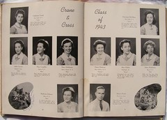 Bellevue Hospital Schools of Nursing (CRANE & CROSS) Graduation Yearbook 1943 | by @nursingpins