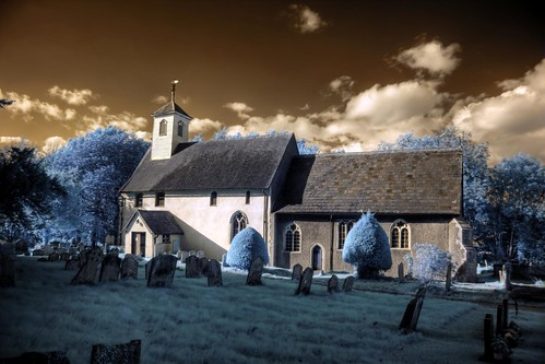 Infrared HDR St Thomas of Canterbury church Great Whelnetham Suffolk | by Brokentaco