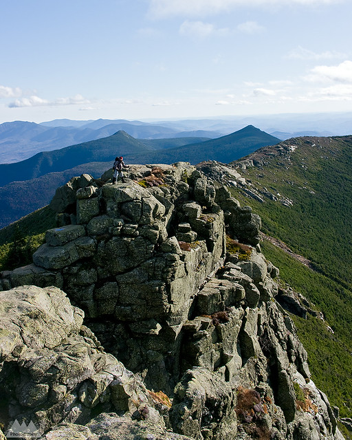 Franconia Ridge, White Mountains, NH  George out on a