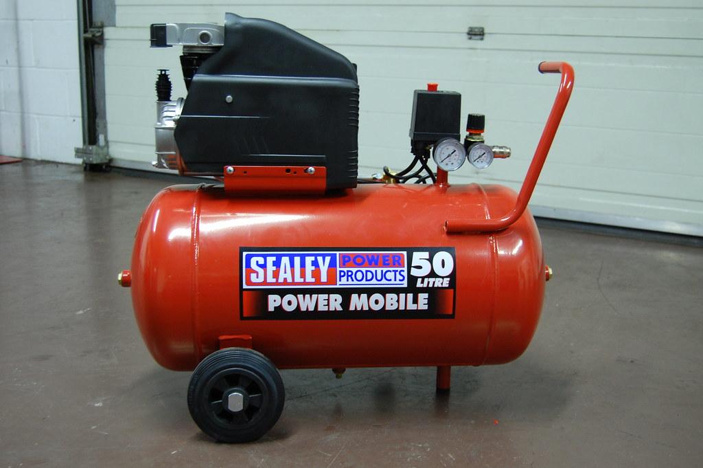 Mobile Air Compressor >> Sealey SA5020 50 Litre Compressor | Aluminium cylinder