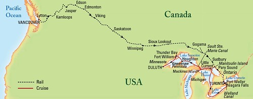 Map The Sirt Trans Canadian Rail And Lake Cruise To Dulu Flickr