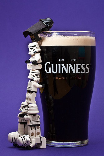 Teamwork Vader likes his beer a little bit on the dark