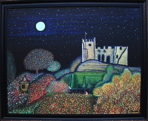 Dudley castle.Acrylic visible in the dark on canvas 81x110cm By Farshad Sanaee The Apple | by Farshad Sanaee The Apple