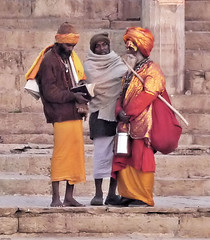 Conferring at the Ghats | by Ron Rothbart
