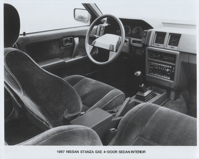 1987 Nissan Stanza GXE 4dr interior (USA press photo) | Flickr