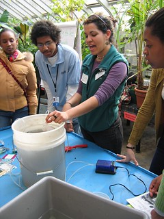 Karla Osorio-Perez leads workshop on brewing compost tea | by Brooklyn Botanic Garden