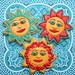 Talavera Style Sun Faces