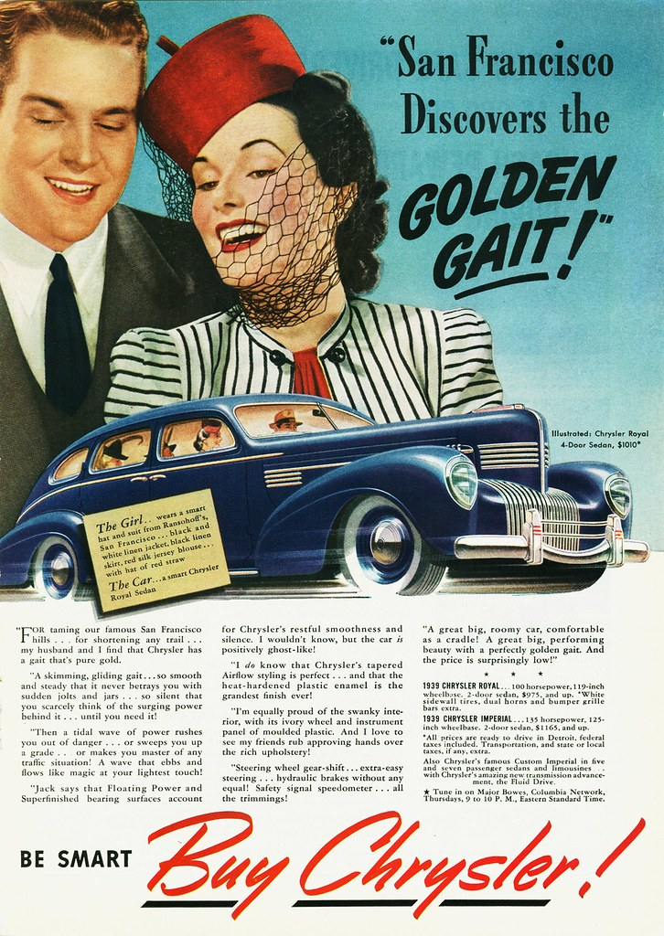 1939 Chrysler Royal Sedan San Francisco Alden Jewell