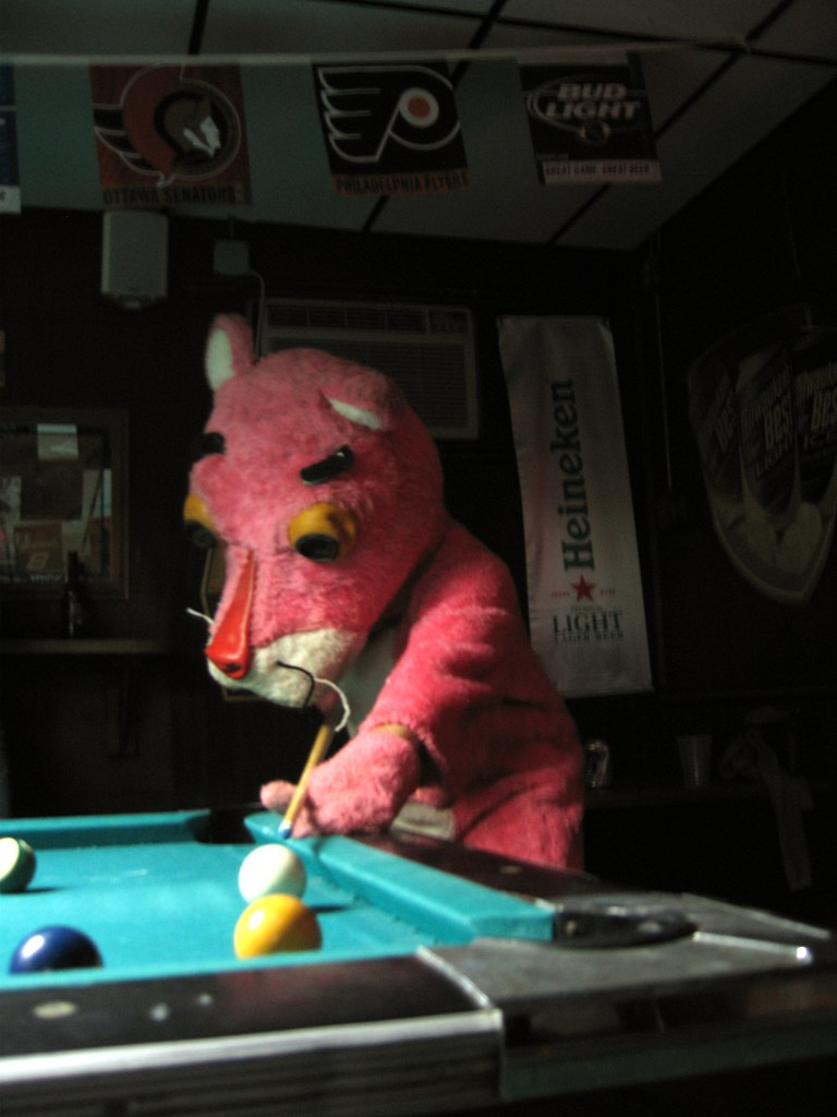 Pink Panther Playing Pool The Pink Panther Lines Up His Sh Flickr - Panther pool table