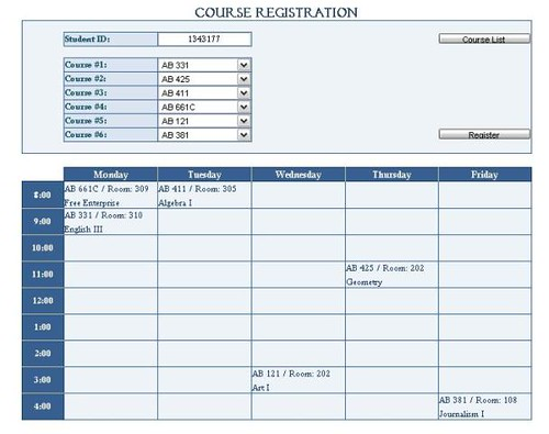 Course registration this is a course registration for Course enrolment form template