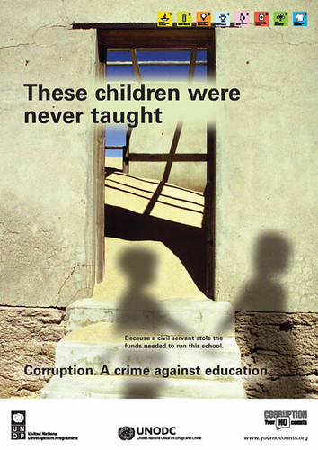 Anti-corruption poster campaign | United Nations ...