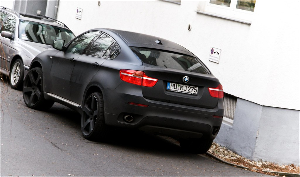 Bmw X6 Matt Black At Work Today Benzoo Flickr