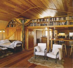SteelMaster Arch Steel House | Interior of Lauren Hutton's ...