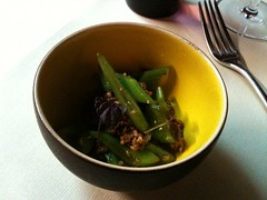 Yam'Tcha: Flat bean salad with ground pork and shiso | by clotilde