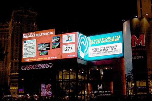 Hmm.. what would foursquare look like on a Las Vegas billboard?  Ah, probably something like this... | by dpstyles™