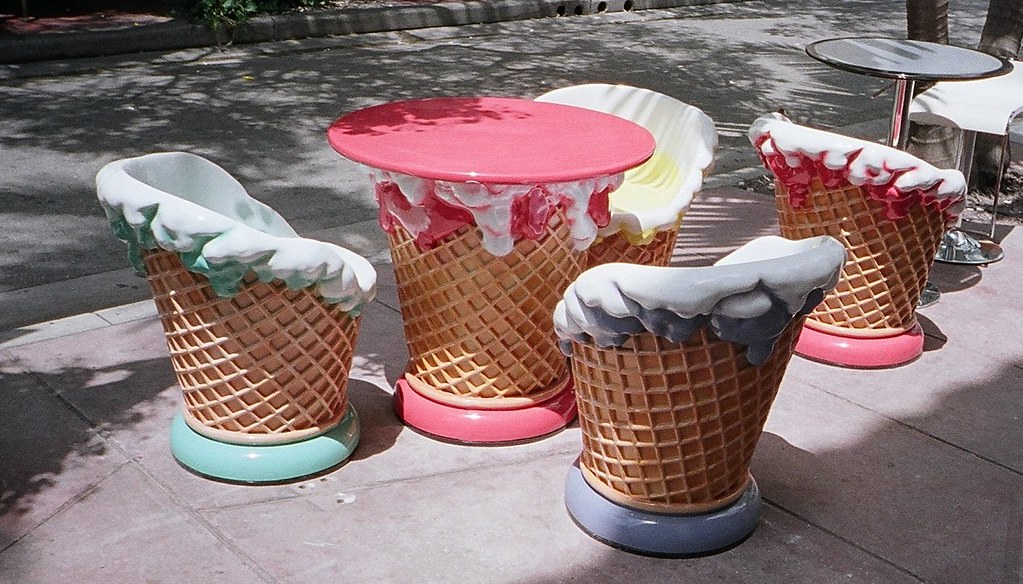 ... Plastic Ice Cream Cone Table And Chairs | By Phillip Pessar