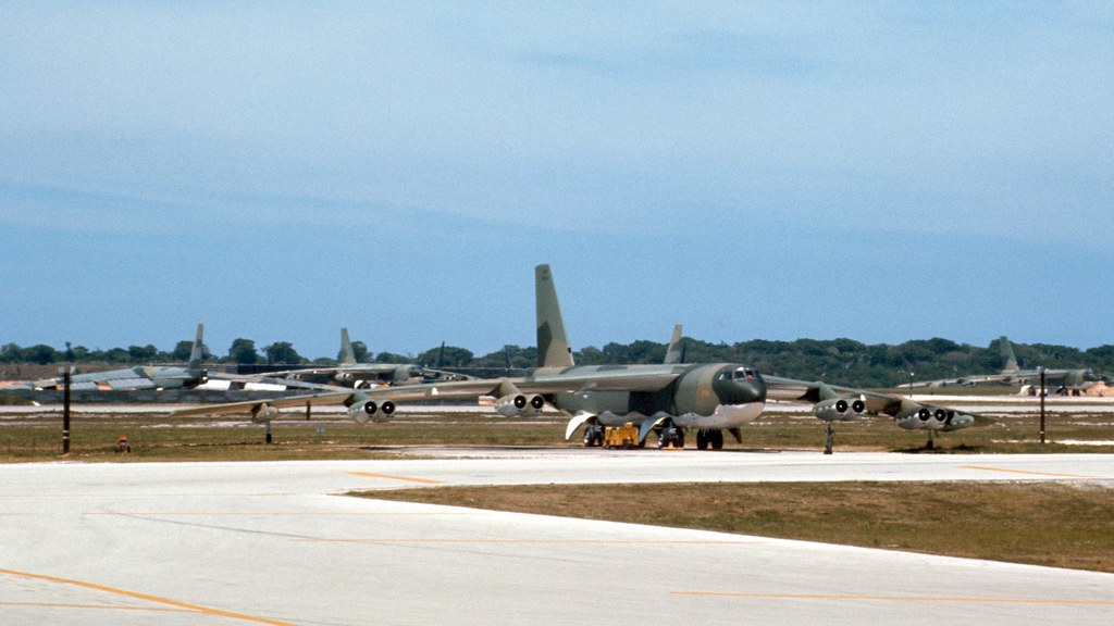 Buff B 52 Anderson Afb Guam Stopped At Anderson Afb
