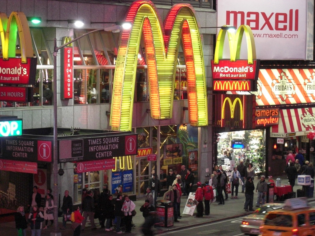 Mcdonald S At Times Square One Of The Most Beautiful