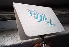 Calligraphy Monogram Letterpress Social Note by Smock | by Smock Letterpress