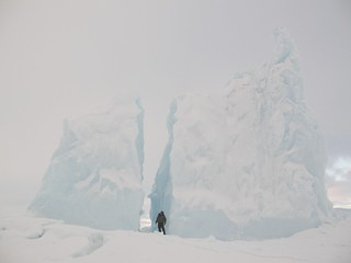 Mark Wood with Split Iceberg | by snowballexpeditions