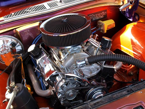 Holden 308 V8 Engine View On Black This Engine Belonged