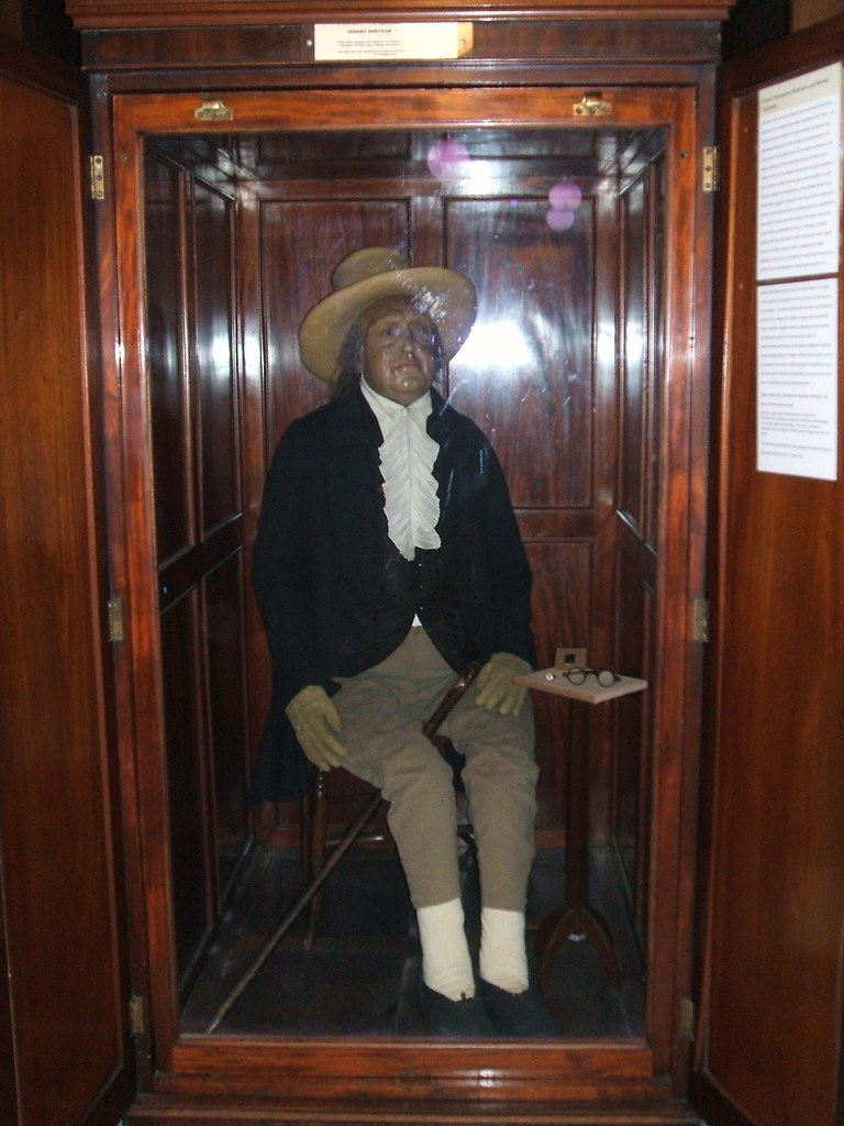 Jeremy Bentham S Skeleton Housed In The South Cloisters