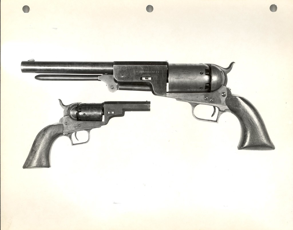 Colt Walker Revolver A Company 19 And Colt Model 1848 Poc