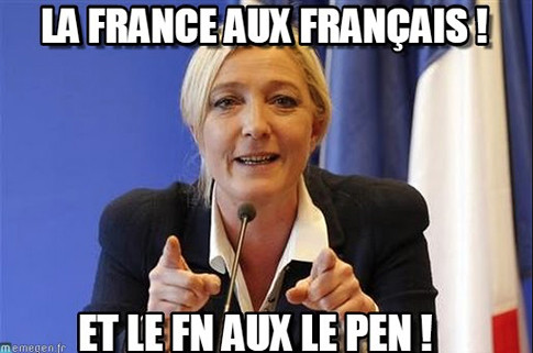 17b10 Marine Le Pen Francia para los franceses Uti 485