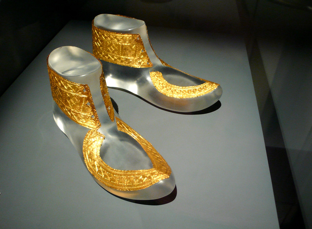 Celts Hochdorf Golden Shoes Ornaments Hochdorf