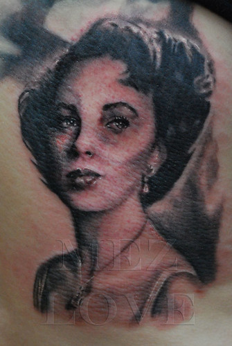 Elizabeth Taylor Portrait | by Mez Love