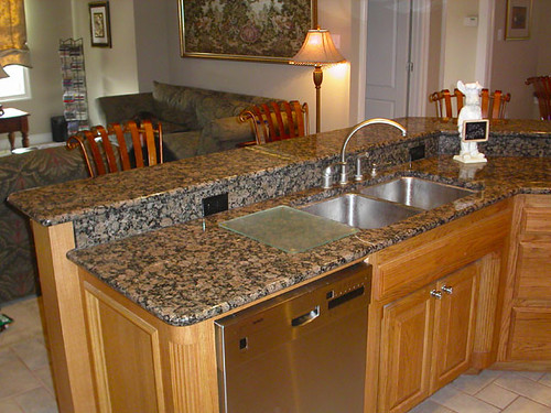 Brown Granite Countertops Kitchen