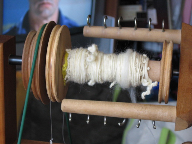 1st spinning attempts on the wheel