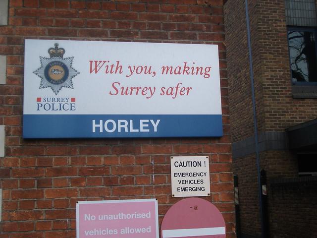 signage at horley police station flickr photo sharing