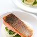 salmon with fennel & mint salad and tahini sauce