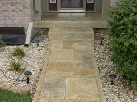 stamped concrete overlay. Stamped Concrete Overlay Ashlar | By Kirk M E