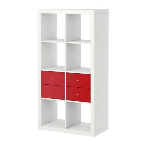 IKEA Expedit Bookcase With Two Drawer, All White.