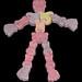 Fleer - Mummies and Deadies candy bones - Mr. Bones - candy skeleton - 1990's